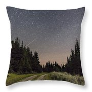A Meteor And The Big Dipper Throw Pillow