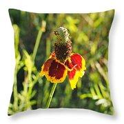 A Mexican Hat Flora Portrait Throw Pillow