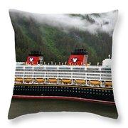 A Mickey Mouse Cruise Ship Throw Pillow
