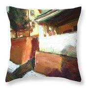 A Mid Western Street Throw Pillow