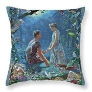 A Midsummer Throw Pillow