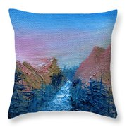 A Mighty River Canyon Throw Pillow