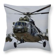 A Mil Mi-17 Helicopter Of The Czech Air Throw Pillow
