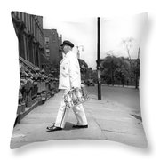A Milkman Delivering Milk Throw Pillow