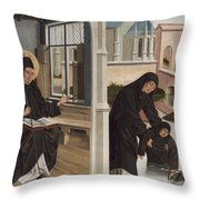 A Miracle Of Saint Benedict Throw Pillow