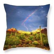 A Miracle Of Timing Throw Pillow