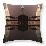 A Mirror Image Reflection Throw Pillow