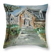 A Modern House In Mendocino Throw Pillow