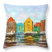 A Modern Take On Curacao Throw Pillow