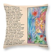 A Moment - Poetry In Art Throw Pillow