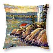 A Moment By The Sea Throw Pillow