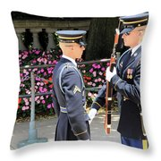 Face To Face During The Changing Of The Guard Throw Pillow