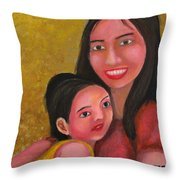 A Moment With Mom Throw Pillow