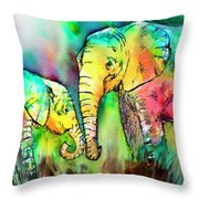 A Moment With Mum Throw Pillow