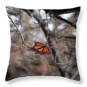 A Monarch For Granny Throw Pillow