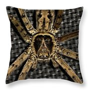 A Monkey On Its Back Throw Pillow