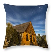 A Moonlit Nightscape Of The Historic Throw Pillow