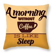 A Morning Without Coffee Is Like Sleep Throw Pillow