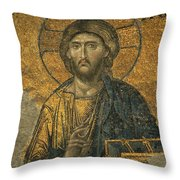 A Mosaic Of Jesus The Christ At St Throw Pillow
