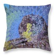 A Mossy Rock  Throw Pillow