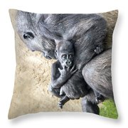 A Mother's Embrace Throw Pillow