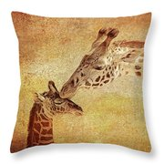 A Mother's Kiss Painted 2 Throw Pillow
