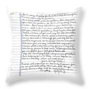 A Mothers Last Words To Her Son Me Throw Pillow