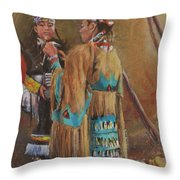 A Mother's Touch Throw Pillow