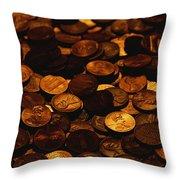 A Mound Of Pennies Throw Pillow