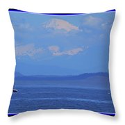 A Mountain, A Boat, A Whale Throw Pillow