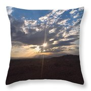 A Mountain Beauty... Throw Pillow