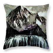 A Mountain To Think About Throw Pillow