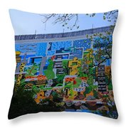 A Mural On The San Antonio Riverwalk Throw Pillow