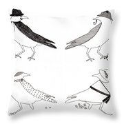 A Murder Of Crows Throw Pillow by Ekta Gupta