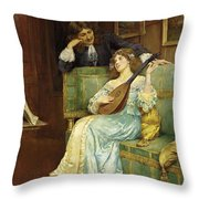 A Musical Interlude Throw Pillow