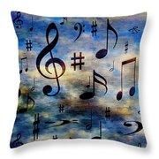 A Musical Storm 3 Throw Pillow