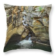 A Natatorium By The Cliff Throw Pillow