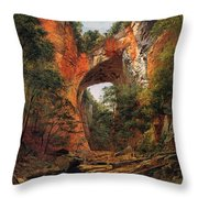 A Natural Bridge In Virginia Throw Pillow