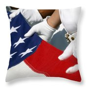 A Naval Station Pearl Harbor Ceremonial Throw Pillow