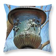 A Navy Yard Urn In Lafayette Square -- West Throw Pillow