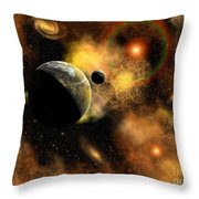 A Nebulous Star System In A Distant Throw Pillow