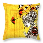 A Net To Catch The Wind Throw Pillow