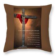 A New Commandment  Throw Pillow