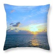 A New Dawn At Sea Throw Pillow