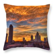 A New Day Atlantic Station Sunrise Throw Pillow