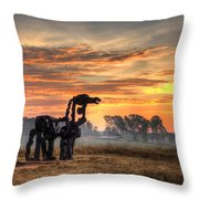A New Day The Iron Horse Throw Pillow