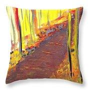 A New Fall Path Throw Pillow
