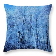 A New Group Of Trees In The Making Throw Pillow