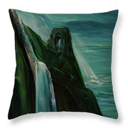 A New Light On The Norman Ruins Throw Pillow