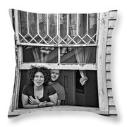 A New Orleans Greeting 2 Bw Throw Pillow